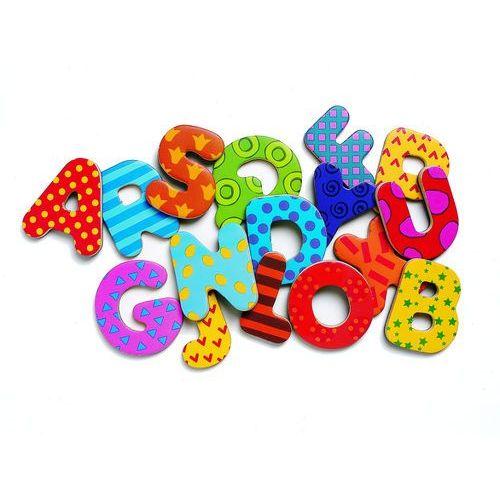 Drewniany alfabet z magnesami dj03100 marki Djeco