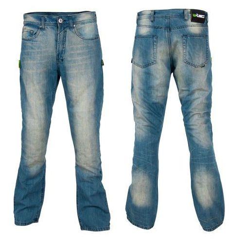 Męskie jeansy motocyklowe W-TEC Airweigt, Jasno-niebieski, 38/L, kolor niebieski