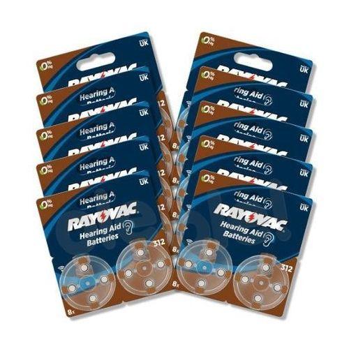 baterie do aparatu słuchowego typ 312 (80 szt.) - produkt w magazynie - szybka wysyłka! marki Rayovac