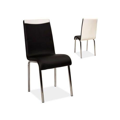 Nowoczesne krzesło h-161 black/white marki Signal