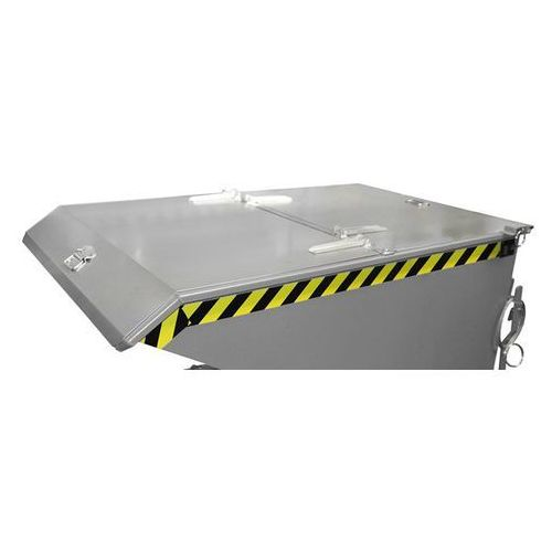 Pokrywa składana, 2-częściowa, do wym. pojemnika 0,75 m³, ocynkowanie, dopłata.