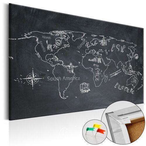 Obraz na korku - Podróże kształcą [Mapa korkowa]