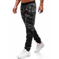 Spodnie męskie dresowe joggery grafitowe denley 55031 marki J.style