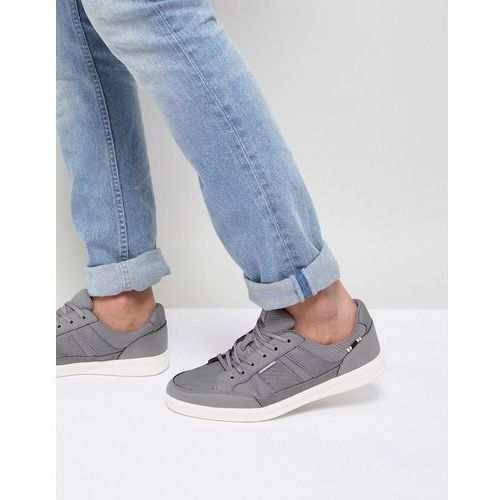 Jack & jones trainers with panel details - grey