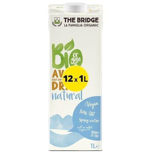 Napój mleko owsiane naturalne 12x1l -  - eko (6.48zł za 1l) marki The bridge