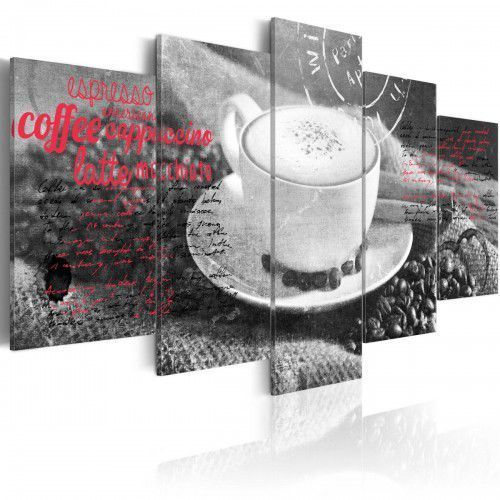 Obraz - Coffe, Espresso, Cappuccino, Latte machiato... - black and white, A0-N3159 (11124138)