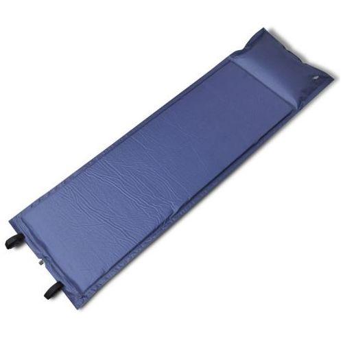 Vidaxl  niebieska, samopompująca się mata, 185 x 55 5 cm (pojedyńcza)