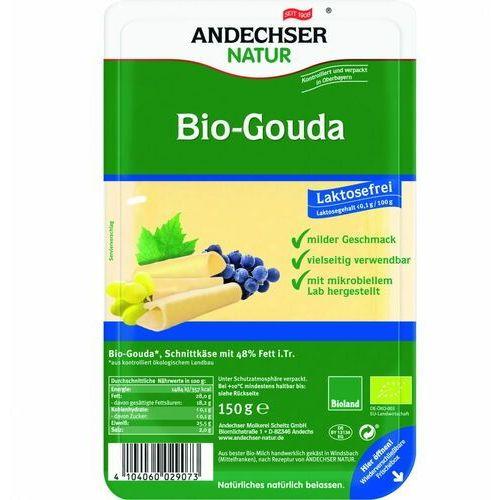Ser gouda w plastrach 48% bez laktozy BIO 150 g Andechser Natur