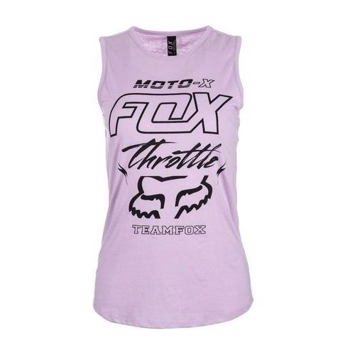 Fox koszulka bez rękawów damska throttle maniac muscle s fioletowy