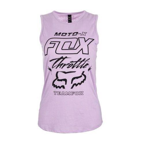 koszulka bez rękawów damska throttle maniac muscle l fioletowy, Fox