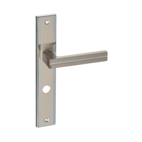 Schaffner Klamka drzwiowa z długim szyldem do wc mada 72 nikiel/chrom (5907467747095)