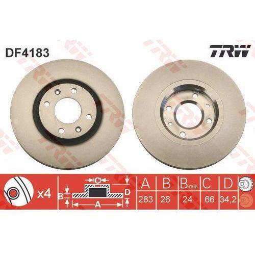 TARCZA HAM TRW DF4183 CITROEN BERLINGO 1.6, 1.6HDI, 08-, C3 1.6 16V 02-, C4 1.4 16V, 1.6 16V 04-, C5 2.0HDI 01-04, TRW DF4183