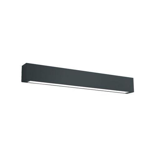 Czarny kinkiet łazienkowy Ibros IP44 średni