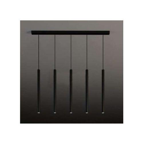 Lampa wisząca yabu 5528/gu10/cz metalowa oprawa zwis listwa sufitowa sople tuby czarne marki Shilo