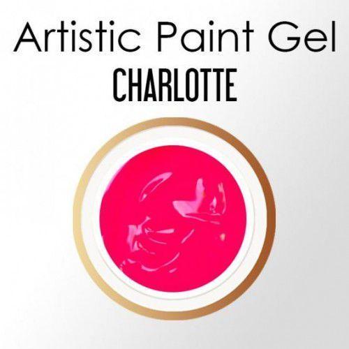 Nails Company ARTISTIC PAINT GEL PASTA 5g - CHARLOTTE (neonowy róż), 39925