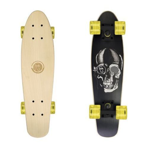 Fish skateboards Deskorolka fishskateboards wood black skull / black / transparent yellow
