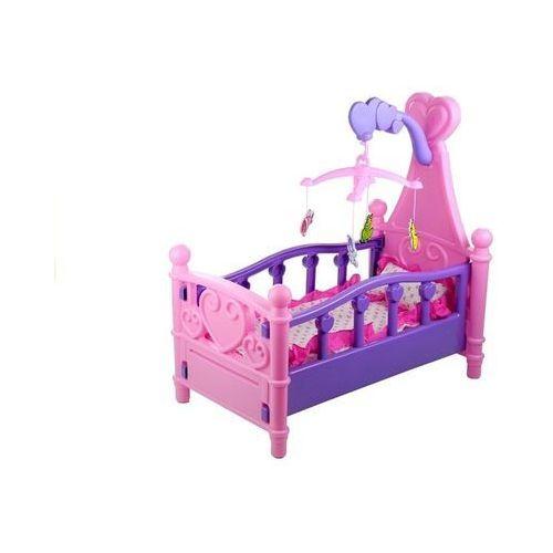 Import leantoys Duże łóżeczko dla lalki z karuzelą i pościelą - lean toys (1818962691025)