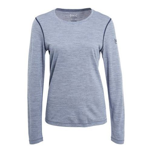 super.natural BASE CREW NECK 230 Podkoszulki light tempest/ocean deep, kolor niebieski