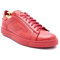 KENT 293D CZERWONE - Skórzane, modne, sportowe - Czerwony, kolor czerwony