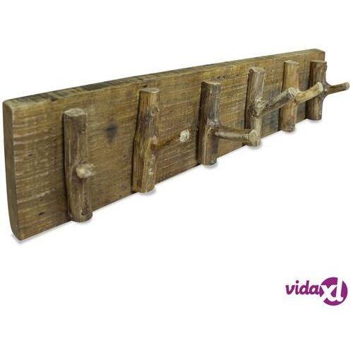 Vidaxl wieszak na płaszcze, lite drewno z odzysku, 60 x 15 cm (8718475569107)
