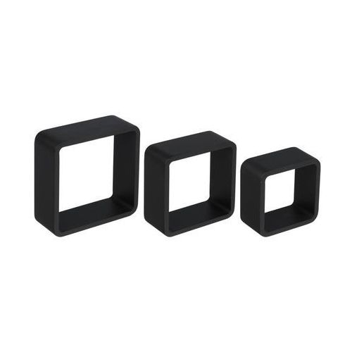 Spaceo Zestaw 3 półek ściennych 3tc czarny duraline (3351840488808)