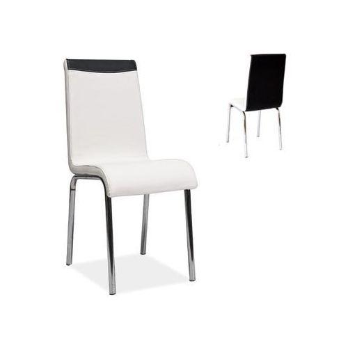 Krzesło H-161 Biały Czarny