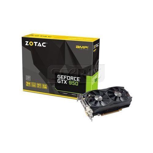 Karta graficzna Zotac GeForce® GTX 950 AMP, 2GB DDR5 (128 Bit), HDMI, 2xDVI, DP, Medium Pack - ZT-90603-10M