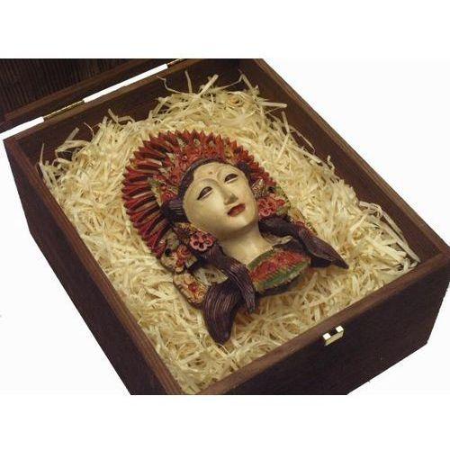 Dekoracyjny Prezent RZEŹBA Egzotyczna Maska NIEZWYKŁEJ BOGINI Z WYSPY BALI