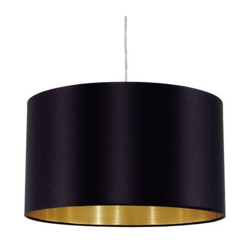 Lampa wisząca Eglo Maserlo 31599 z abażurem 1x60W E27 czarna/złota + żarówka LED za 1 zł GRATIS! (9002759315993)