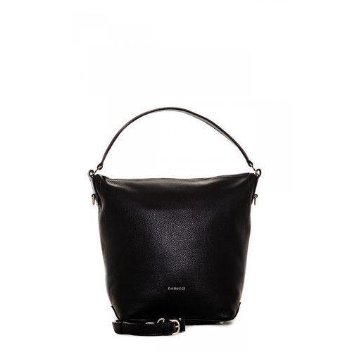 Codzienna torba miejska w czarnym kolorze - Franco Bellucci