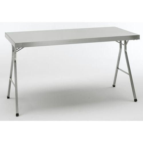 Stół składany ze stali szlachetnej, wys. robocza 850 mm, szer. x głęb. 1400x700