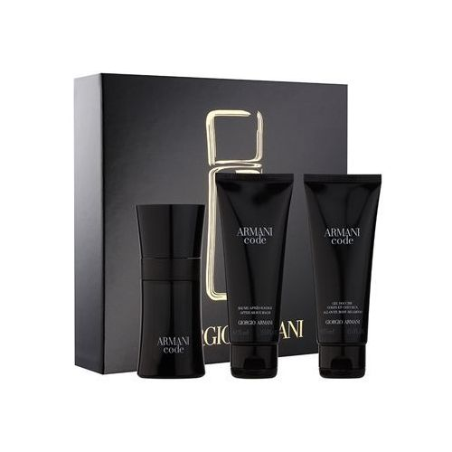 code woda toaletowa 50 ml + żel pod prysznic 75 ml + balsam po goleniu 75 ml marki Armani