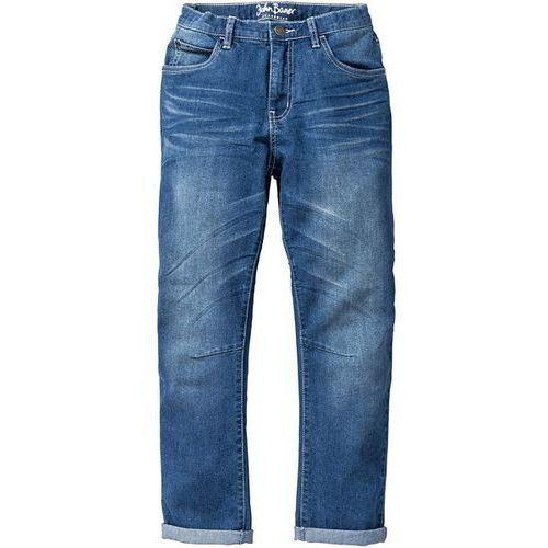 Dżinsy Slim Fit bonprix niebieski
