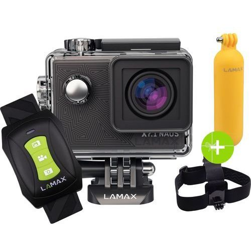 Lamax Kamera sportowa x7.1 naos + akcesoria + karta pamięci kingston 32gb class10 u3 ★★★ zobacz zestawy specjalne ★★★ (8594175351989)
