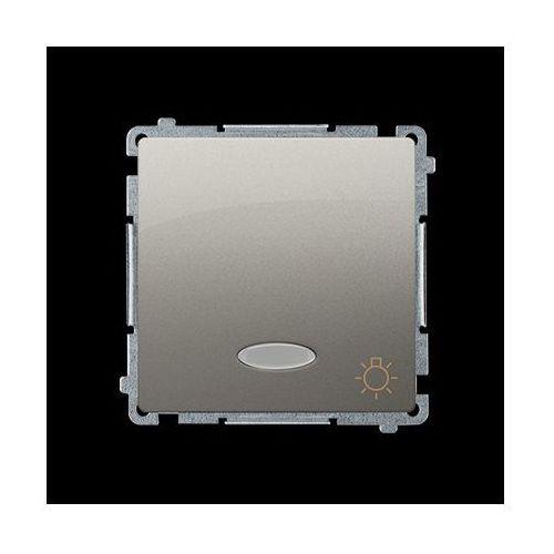 Przycisk światło z podświetleniem (moduł) 10AX, 250V~, zaciski śrubowe; satynowy