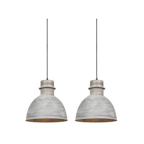 Zestaw 2 lamp wiszących w kolorze szarym - Dory