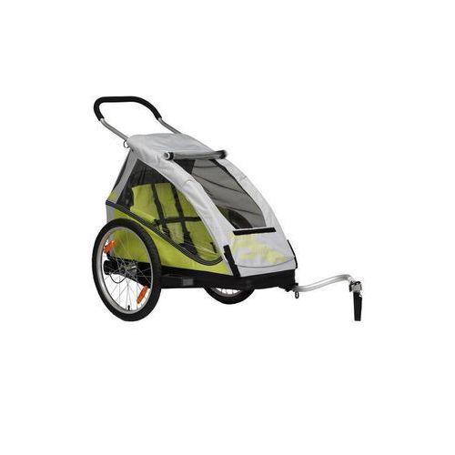 Xlc mono przyczepka rowerowa żółty/szary 2018 przyczepki dla dzieci