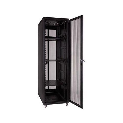 Linkbasic Szafa stojąca 19 42U 600x1000mm (drzwi perf., 4xwent., 3xpolka, 1xlistwa)