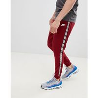 Nike Taping Skinny Fit Joggers In Red AR4912-677 - Red, w 5 rozmiarach