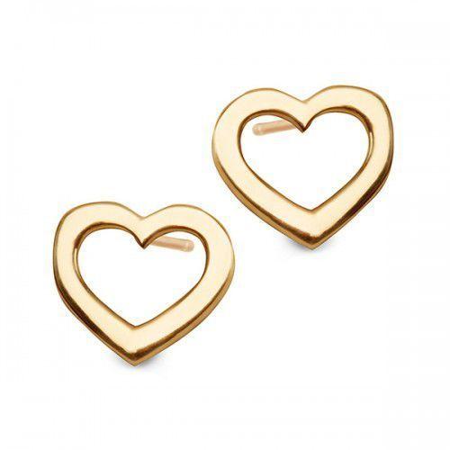 Kolczyki złote serduszka sztyft od producenta Staviori