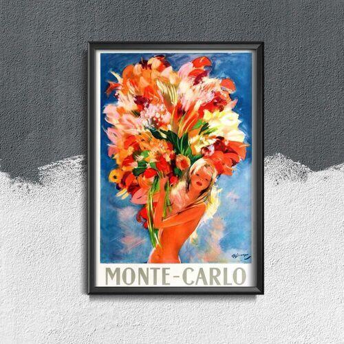 Plakat w stylu vintage Plakat w stylu vintage Piękne Monte Carlo Monako