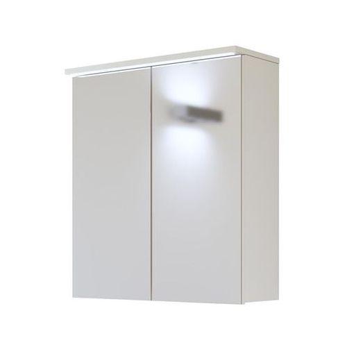 Szafka łazienkowa z lustrem led 60 cm galaxy white marki Comad