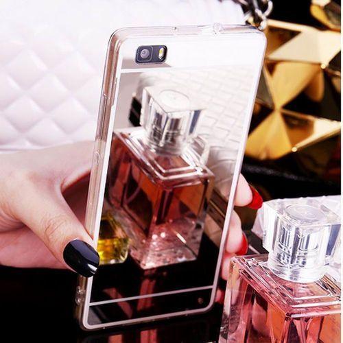 Slim Mirror Case Srebrny | Etui dla Huawei P9 Lite - Srebrny, kolor szary