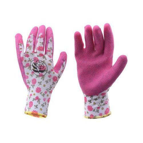 Rękawice ogrodowe r. M / 7 poliestrowe z powłoką lateksową (5905620024564)