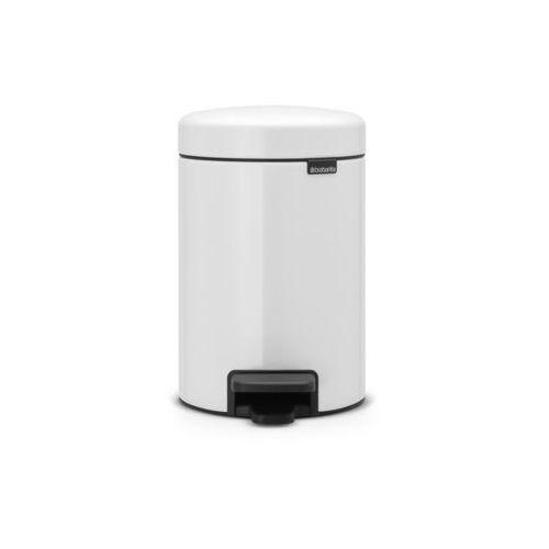 Brabantia - Kosz NewIcon - 3 l - plastikowe wiadro i pokrywa wolnoopadająca - biały - biały