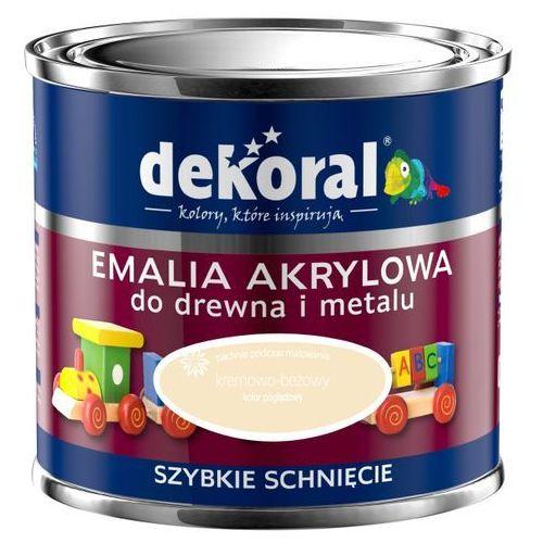 Dekoral Farba akrylux kolor kremowo - beżowy emalia akrylowa do drewna i metalu jedwabisty połysk 0,5l firmy  (5904000811176)