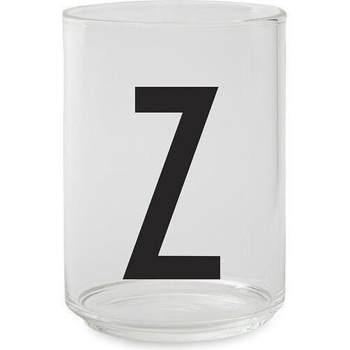 Szklanka aj litera z
