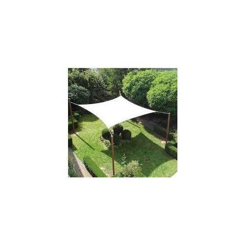 Pure garden & living Żagiel przeciwsłoneczny ogrodowy kwadrat 5mx5m beżowy dobrebaseny