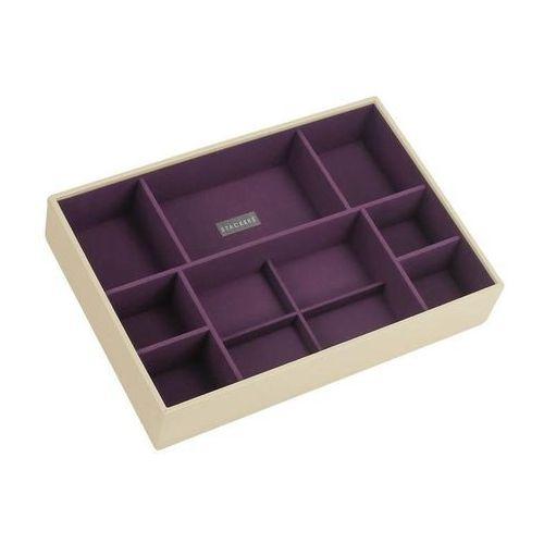 Pudełko na biżuterię 11 komorowe supersize kremowo-fioletowe marki Stackers