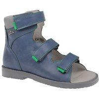 Trzewiki Profilaktyczne Ortopedyczne Buty DAWID 951 G Granat - Granatowy ||Niebieski